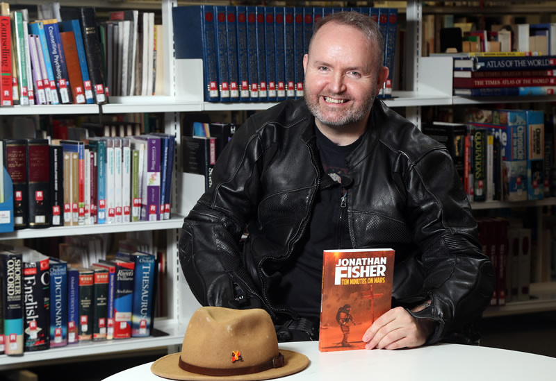 Lisburn Author Inspiration To All At SERC As He Launches Second Book