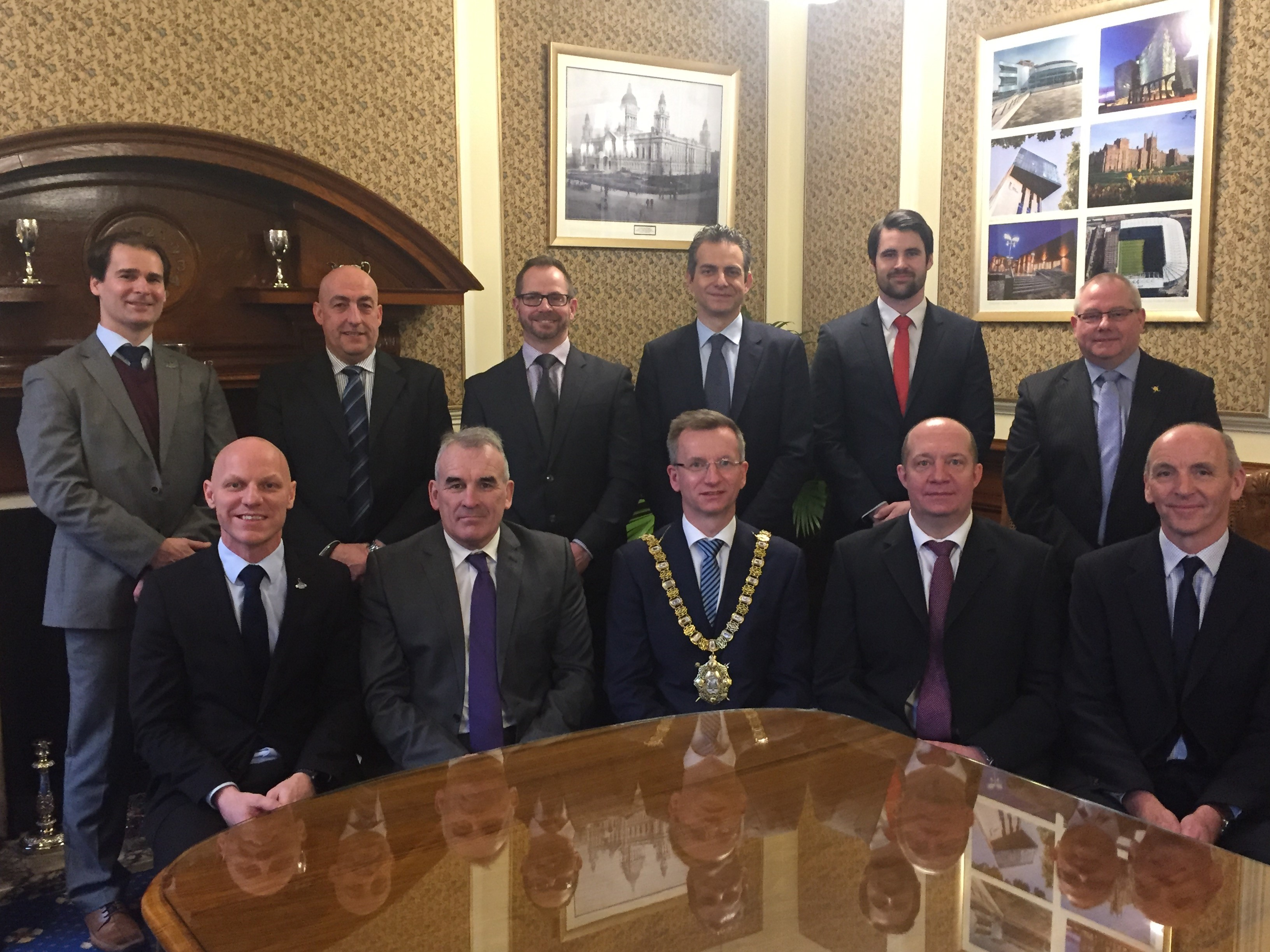 Belfast Lord Mayor Welcomes IIHF Ice Hockey World Championship Officials
