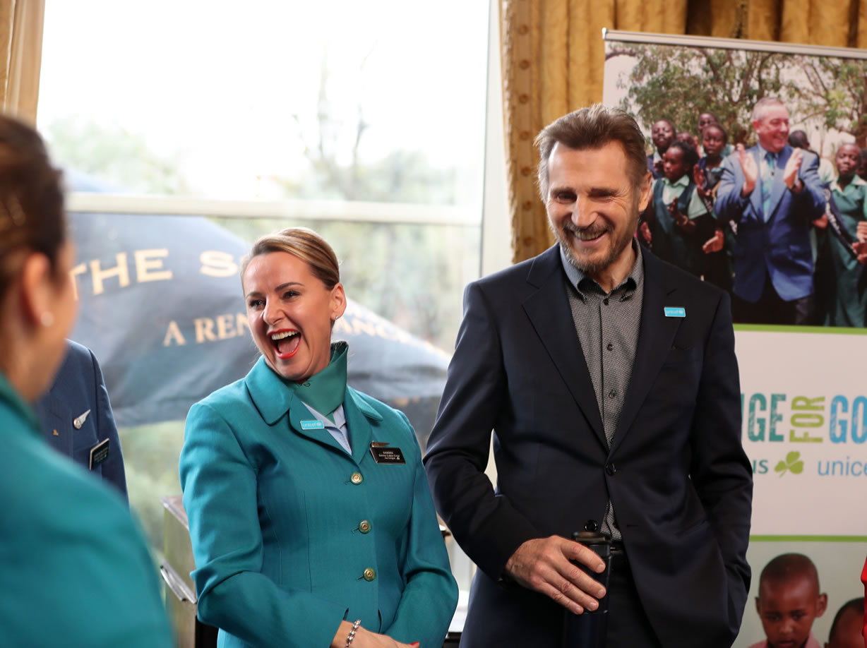 Liam Neeson Thanks Aer Lingus UNICEF Fundraising Guests