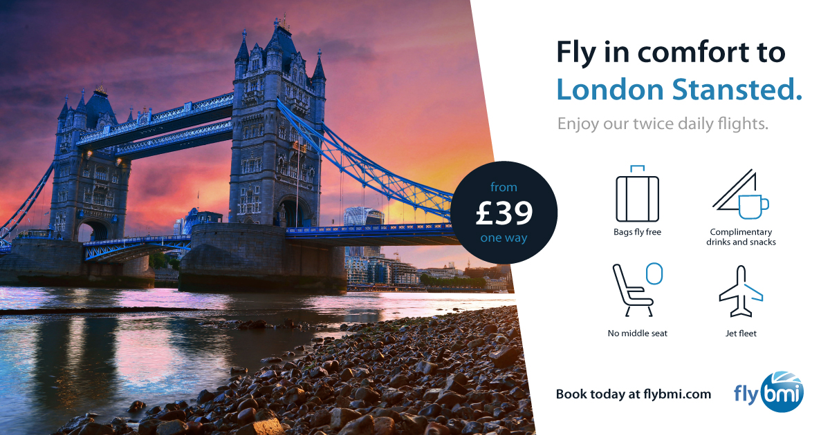 FLYBMI Reduced London Fares