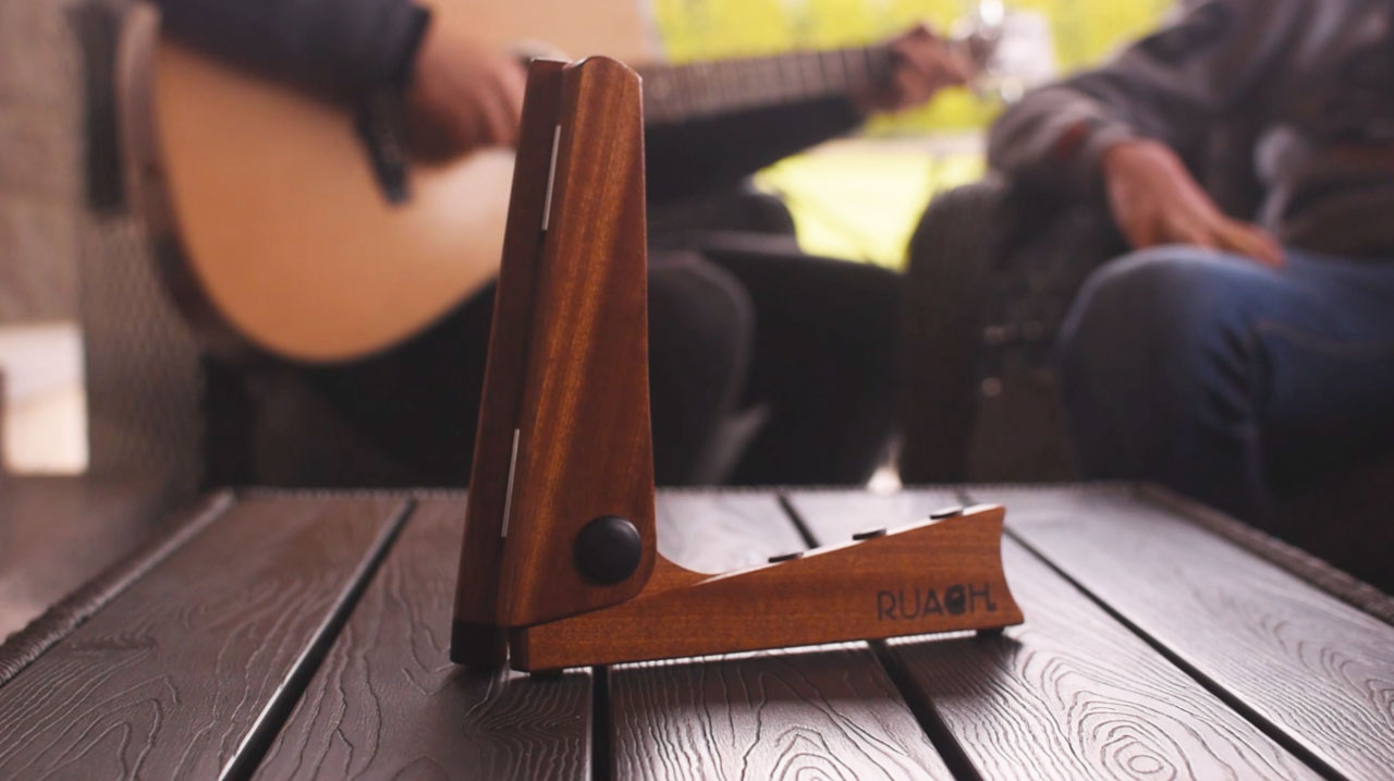 NI Music Brand Launch World's First Pocket Guitar Stand