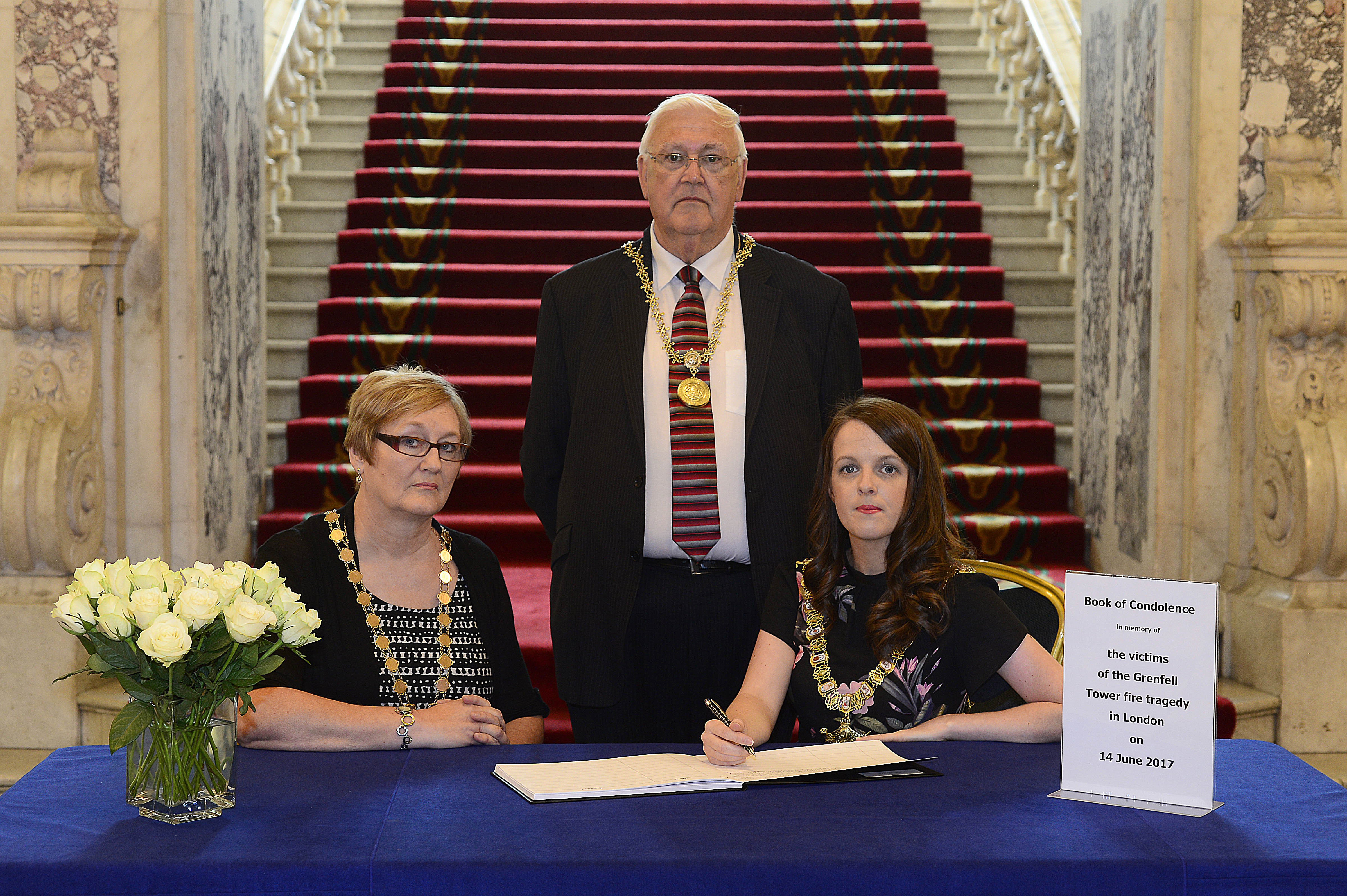 Belfast Book of Condolence For Victims of Grenfell Tower