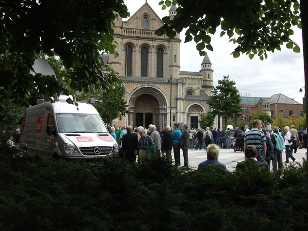 Funeral service for Alex Higgins at Belfast St Annes Cathedral