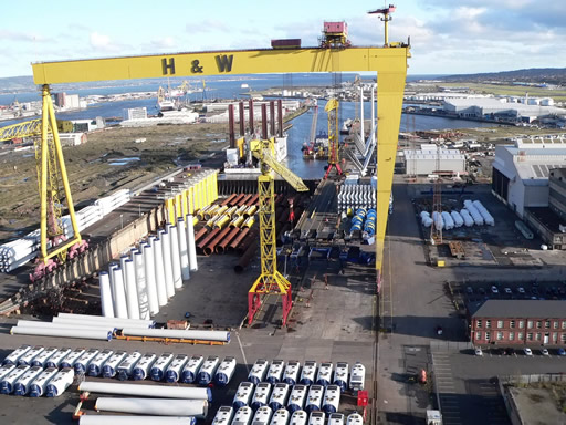 Skyline of Belfast from Harland & Wolff Cranes