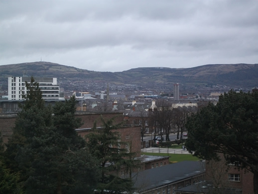 South Belfast view from inside the Ulster Museum