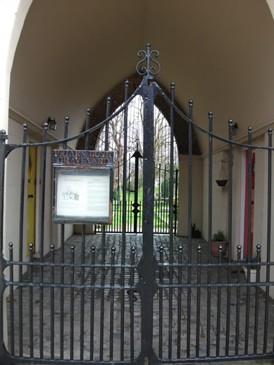 Gates to black death cemetery