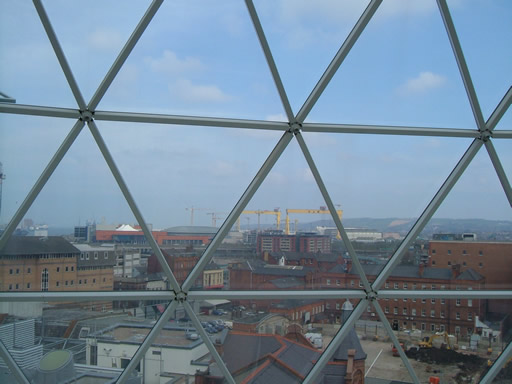 Harland & Wolff Cranes viewed from Belfast dome