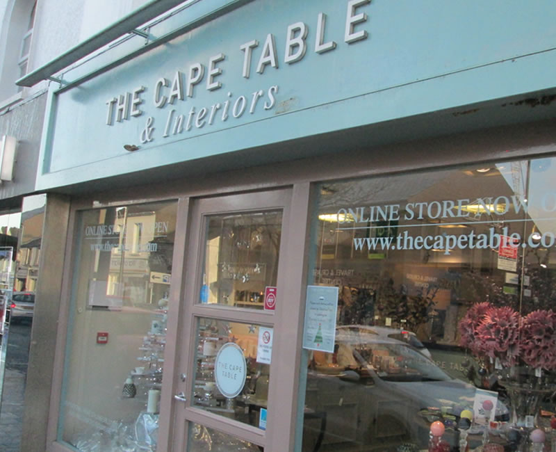 the cape table Holywood County Down