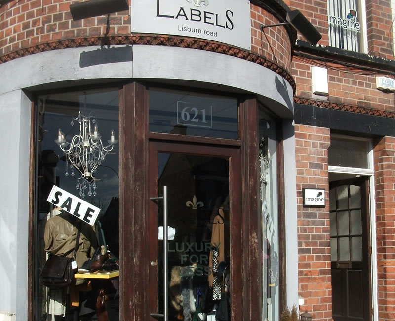 Labels Lisburn Road Belfast